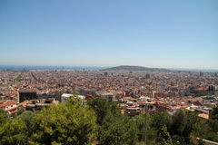 View of Barcelona, Spain. Top view Royalty Free Stock Image