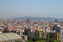 View of Barcelona, Spain. Top view Stock Image