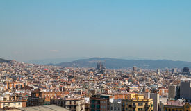 View of Barcelona, Spain. Top view Stock Photo
