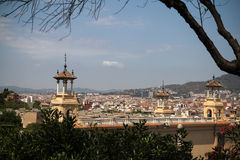 View of Barcelona, Spain. Top view Royalty Free Stock Images