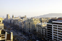 View of Barcelona,spain Royalty Free Stock Photos