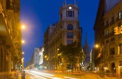 View of Barcelona, Spain.  Via Laietana Stock Photo