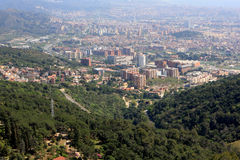 View of Barcelona from Tibidabo Stock Images