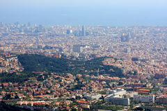 View of Barcelona from Tibidabo Royalty Free Stock Images