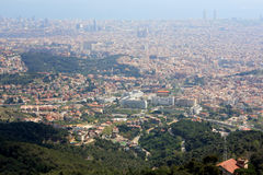 View of Barcelona from Tibidabo Royalty Free Stock Image