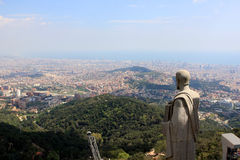 View of Barcelona from Tibidabo Royalty Free Stock Photography