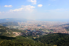 View of Barcelona from Tibidabo Royalty Free Stock Photos