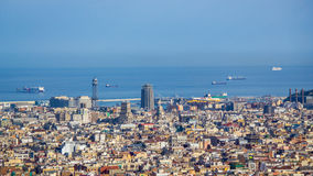 View of barcelona from Tibidano, Spain Royalty Free Stock Images