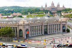 View of Barcelona From Top  and National Palace Royalty Free Stock Image