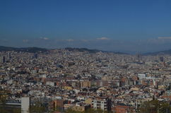 View on Barcelona. From Montjuïc Mountain Stock Photos