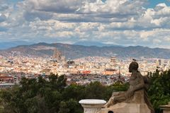 View of Barcelona royalty free stock images