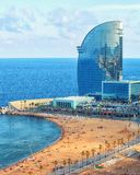 View of Barcelonetta beach Stock Images