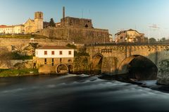 View of Barcelos city. BARCELOS, PORTUGAL - CIRCA JAUARY 2019: View of Barcelos city with Cavado river in Portugal. It is one of the growing municipalities in royalty free stock photos