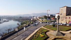 View from the Barcelos city stock video footage