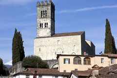 View of Barga cathedral Royalty Free Stock Images