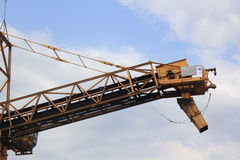 View barge loading conveyor in the other side Stock Photo