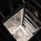 View from the Barn Attic, Monotone royalty free stock photography