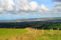 View of Barnstaple. From Codden Hill Stock Photos