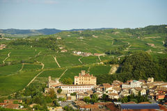 View of Barolo in Langhe Hills Stock Photography