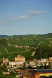View of Barolo in Langhe Hills Stock Image