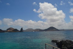 View from Bartolome Island stock images