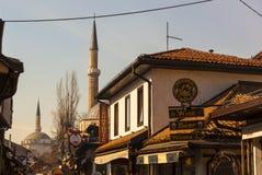 View of the Bascarsijska Dzamija minaret, Sarajevo Stock Image