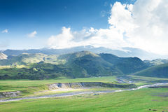 View of the base camp of Elbrus Royalty Free Stock Photography