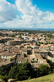 View of the base city of Carcassonne Royalty Free Stock Image