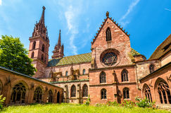 View of the Basel Minster Cathedral. In Switzerland Stock Photography