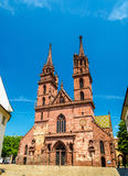 View of the Basel Minster Cathedral Stock Photography