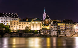 View of Basel old city in Switzerland Stock Photos
