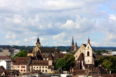 View of Basel, Switzerland. View of Basel from Munster, Switzerland Royalty Free Stock Images