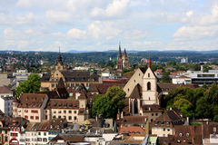 View of Basel, Switzerland. View of Basel from Munster, Switzerland Stock Photos