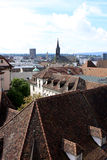 View of Basel, Switzerland. View of Basel from Munster, Switzerland Stock Photo