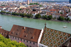 View of Basel, Switzerland. View of Basel from Munster, Switzerland Royalty Free Stock Photography