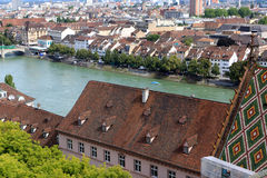 View of Basel, Switzerland. View of Basel from Munster, Switzerland Stock Image