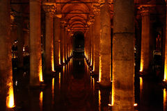 View of Basilica Cistern Stock Image