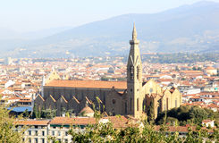 View at the Basilica di Santa Croce, Florence Stock Photo