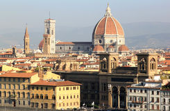 View at the Basilica di Santa Croce in Florence Royalty Free Stock Photography