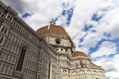 View of Basilica di Santa Maria del Fiore in Florence in Italy Royalty Free Stock Photos