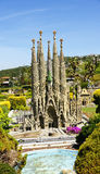 View of Basilica of the Holy Family, Catalunya in miniature. Torrelles de Llobregat, Barcelona royalty free stock photo