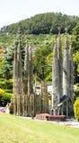 View of Basilica of the Holy Family, Catalunya in miniature. Torrelles de Llobregat, Barcelona stock images