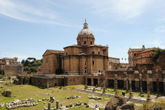 View of a basilica of the Roman Forum Stock Image