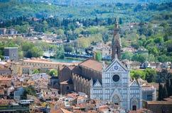 View of basilica Santa Croce Stock Photography