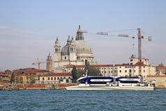 View of the Basilica Santa Maria della Salute. VENICE, ITALY Royalty Free Stock Photo