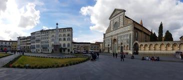 Basilica of Santa Maria Novella in Florence, Tuscany, Italy. View of the Basilica of Santa Maria Novella in Florence, Tuscany, Italy stock photography