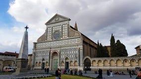Basilica of Santa Maria Novella in Florence, Tuscany, Italy. View of the Basilica of Santa Maria Novella in Florence, Tuscany, Italy royalty free stock images