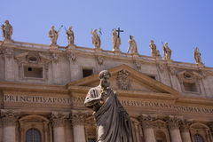 View with the Basilica of St. Peter in Vatican Stock Photos