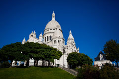 View on Basilique of Sacre Coeur, Montmartre, Paris Stock Image