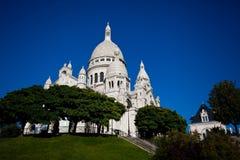 View on Basilique of Sacre Coeur, Montmartre, Paris Stock Image